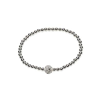 Snö of Sweden Women Silver Plated Stretch Bracelet - 692-5069010 8i6ytNpdOL