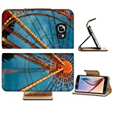 Luxlady Premium Samsung Galaxy S6 Edge Flip Pu Leather Wallet Case IMAGE 35638430 Ferris Wheel motion at nigh HDR image offers