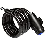 Spotact Bike Lock, 1.2M Long Bicycle Security Cable Lock with Intergrated Keys and Lock Holder, Best for Outdoors Mountain Cycling