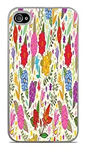 Spring Flowers White Hardshell Case for iPhone 4 / 4S by icecream design