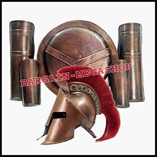 Fancy Dress Spartan (Halloween Costumes Cosplay Men Props Party Dress Fancy Spartan Movie Helmet)