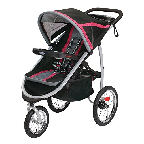 Graco Fastaction Fold Jogger Click Connect Stroller, Azalea