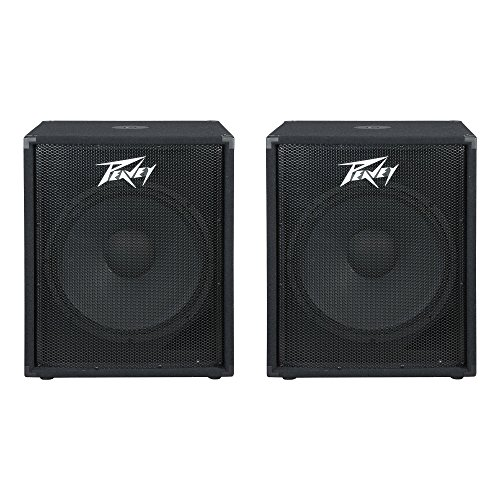 Peavey PV 118 400 Watt 18 Inch Compact Vented Heavy Duty Pro Subwoofer (2 Pack) (Peavey Bass Crossovers)
