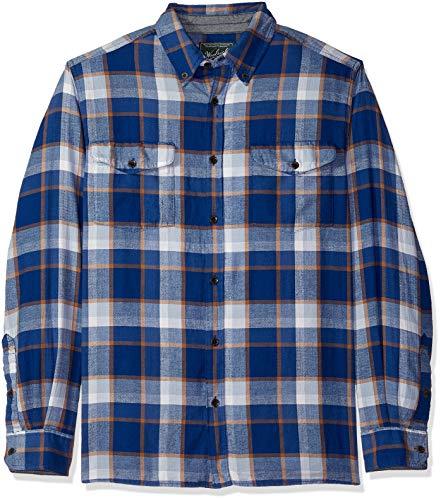 Woolrich Men's Eco Rich Stone Rapids Shirt, Alpine Blue, X-Large ()