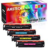 Amstech Compatible Toner Cartridge Replacement for Canon 131 131H Toner Cartridge 131 Canon ImageClass MF8280Cw LBP7110Cw MF8280 MF624CW MF628Cw Printer Ink (Black Cyan Yellow Magenta, 4-Pack)