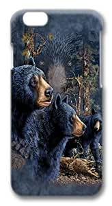 Find 13 Black Bears Custom iphone 6 plus 5.5 inch Case Cover Polycarbonate 3D