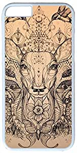 Artistic Butterfly Snake Design Deer Human Case for iPhone 6 Plus PC Material White by ruishername