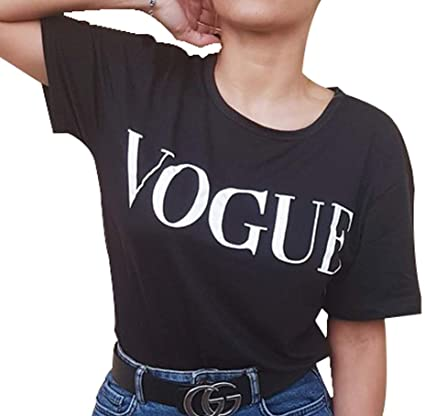 Camiseta de Manga Corta voge. Camiseta Corta algodón de Mujer. (V ...