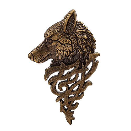 - AENMIL Domineering Wolf Head Brooch Pin Badge for Jacket or Collar, Personalized Fashion Men 's Suits Buckle Neckwear Decoration - Bronze ...