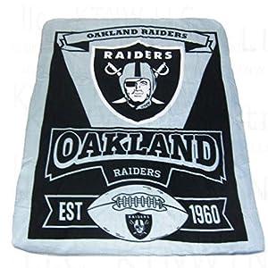 NFL Oakland Raiders Marque Printed Fleece Throw, 50