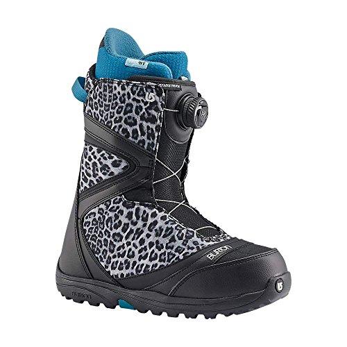 Burton Dame Snowboard Støvler Sort / Sneleopard IOmSUWTj