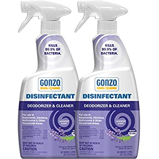 Gonzo Natural Magic Disinfectant Spray & Multipurpose Cleaner - 24 Ounce (2 Pack) Lavender - Odor Eliminator, Disinfectant, Flood Fire Water Damage Restoration