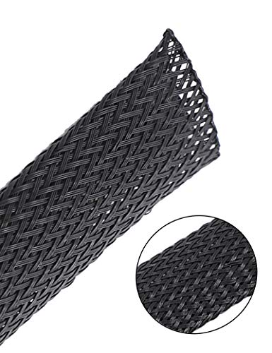 50ft 1/8 inch Expandable Wire Cable Sleeving Sheathing Braided Loom Tubing for Braided Wire Sleeve Management Cord Protecto Cable sleeving and USB Charger Cable Power Cord Audio Video Cable