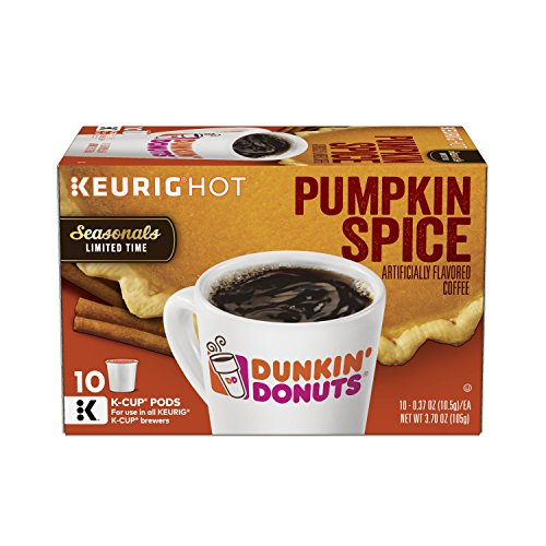 Dunkin' Donuts Pumpkin Spice Flavored Coffee, K-Cup Pods, Seasonal Limited Time, For Keurig Brewers, 60 Count Pumpkin Spice K-cup