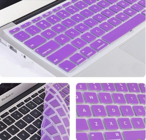 Gioiabazar Silicone Compact Keyboard Skin Guard Cover Apple MacBook 13 #34; 15 #34; 17 #34; Air/Pro/New Pro Retina Purple