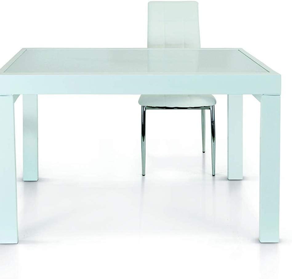 Fashion Commerce Tavolo FC943 Bianco 120 X 90-240 X 90 Cm