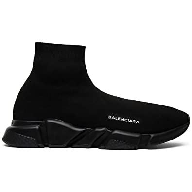 da2037fd3c29 Balenciaga Men s   Women s Speed Trainer Mid  Triple Black  Unisex Fashion  Sneakers (36
