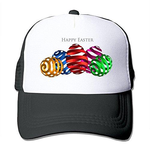 MZONE Unisex-Adult Snapback Caps Hat Happy Easter Sunday Egg 2016 Travel Cap Hat Black