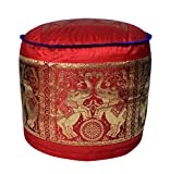 Pouffe Ottoman Floor Cushion Cover For Gift Item 17 X 17 X 12 Inches