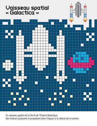 Pixel Art Espace Colorie Crée Pixélise Amazonfr