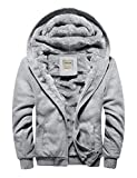 DAVID.ANN Men's Casual Winter Fleece Hoodies