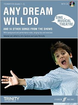 Libros Descargar Sing Musical Theatre: Any Dream Will Do: Piano/voice/guitar Leer Formato Epub