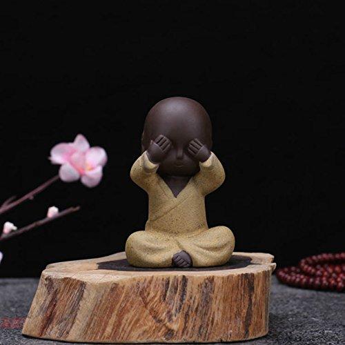 Kiartten Buddha Statue - Purple Send Buddha Statue Monk Tea Pet Boutique Car Accessories Small Sand Guanyin Ornaments Wholesale Buddha Statues