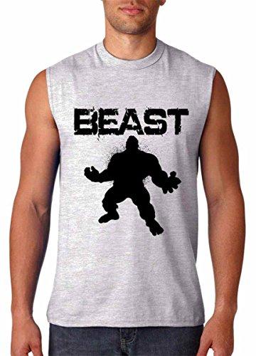 HULK Beast Lifting Gym Gear Workout Sleeveless T-Shirt XL Sport Grey Gear For Sports Sleeveless T-shirt