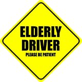Elderly Driver Please Be Patient Vinyl Sticker Decal