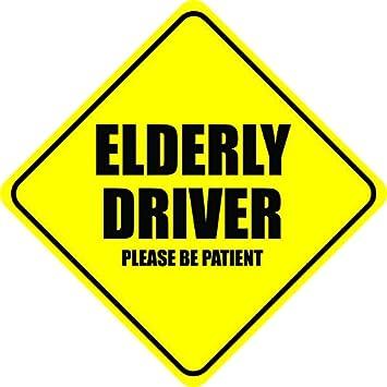 Elderly driver please be patient vinyl sticker decal