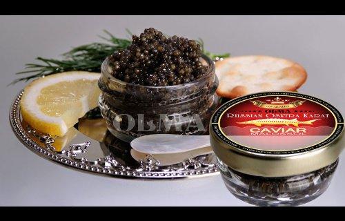 OLMA Black Caviar Russian Osetra KARAT 1 oz (28g) Glass (Osetra Karat Caviar)