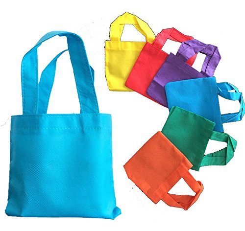 Promotional Eco-Friendly Non Woven Mini Colorful Gift Tote Bag Art Craft Screen Print School Dye (50, Natural)
