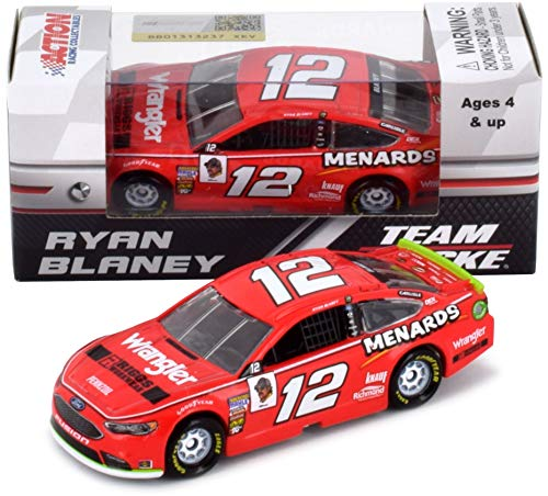 (Lionel Racing Ryan Blaney #12 Wrangler 2018 Ford Fusion NASCAR Diecast 1:64 Scale)