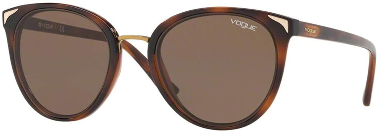 54 mm Top Havana Light Brown VOGUE Womens 0vo5230s Rectangular Sunglasses