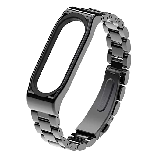 Amazon.com: Bands for Xiaomi Mi Band 3, Polwer Stainless Steel ...