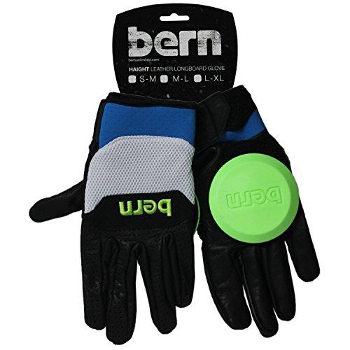 BERN Unlimited Leather Haight Longboard Glove, Green, Medium/Large