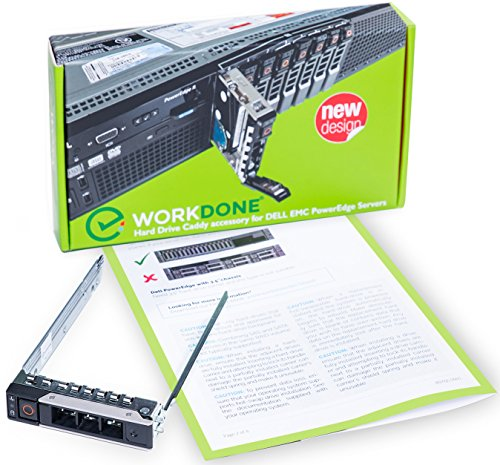WORKDONE 2.5'' Hard Drive Caddy for Dell PowerEdge Servers - 14th Gen R440 R640 R740 R740xd R840 R940 R6415 R7415 R7425 - SSD SAS SATA NVMe Bracket Tray - Easy Setup with Detailed Installation Manual by WORKDONE
