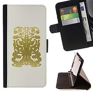 Résumé Motif Or Dessin Beige - Modelo colorido cuero de la carpeta del tirón del caso cubierta piel Holster Funda protecció Para Apple (5.5 inches!!!) iPhone 6+ Plus / 6S+ Plus