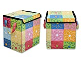 Multipurpose square Shape Foldable Open Laundry bag Basket with Carry Handle Bag for storage of Clothes, Toys Stander Size By Fashion Textile