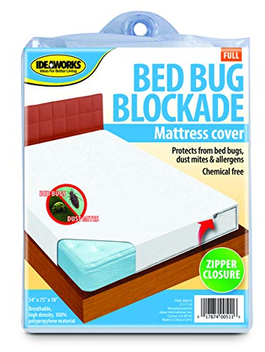 Ideaworks Full Size Bed Bug Protector, White