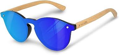 Navaris gafas de sol polarizadas UV400 - Lentes de madera y funda ...
