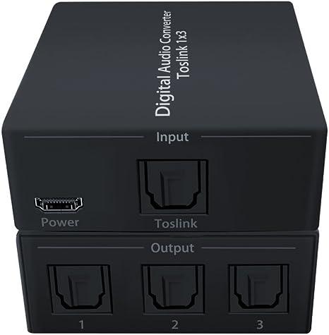 Dingsun - Convertidor de audio digital a analógico, digital óptico coaxial a RCA analógico, compatible con conversor de audio 192 KHz 24 bits, convertidor de audio: Amazon.es: Electrónica