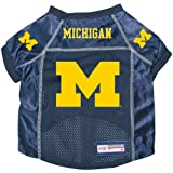 Michigan Wolverines Premium Alternate NCAA Pet Dog Jersey w/ Name Tag MEDIUM