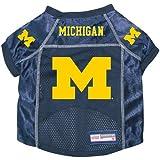 Michigan Wolverines Premium Alternate NCAA Pet Dog Jersey w/ Name Tag LARGE