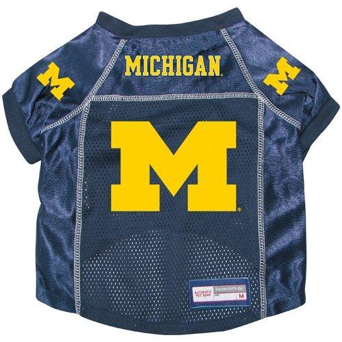 Wolverines Michigan Dog Jersey - Michigan Wolverines Premium Alternate NCAA Pet Dog Jersey w/ Name Tag SMALL