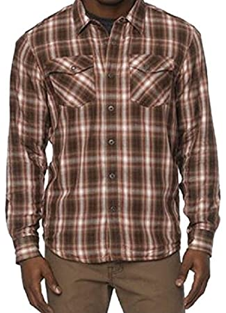 06aa12536e0 Amazon.com  prAna Men s Asylum Flannel Shirt  Sports   Outdoors