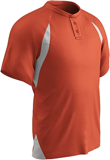 CHAMPRO BST62A MENS TWO BUTTON BASEBALL JERSEY