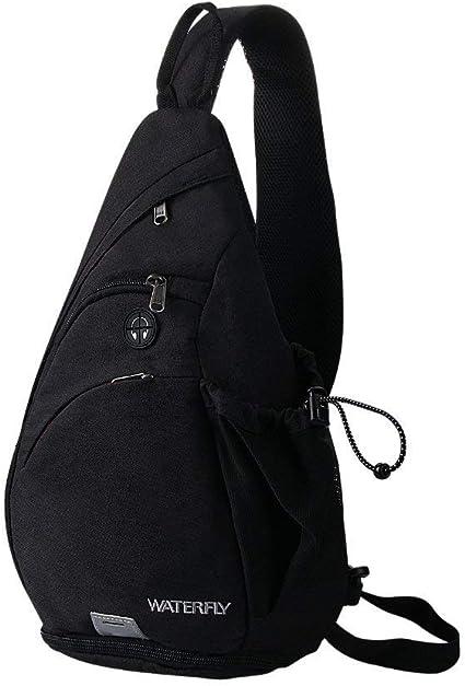 Waterfly Sling poitrine Sacs à dos Sacs Bandoulière Épaule Triangle packs noir