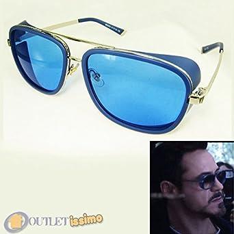 DP Design® Gafas de sol Steampunk Iron Man Stark Cosplay Aviador Espejo UV400 oim01: Amazon.es: Ropa y accesorios