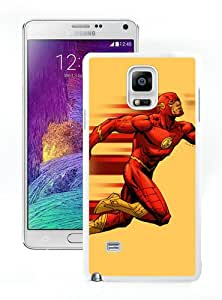 Case For Samsung Note 4,Flash Running White Samsung Note 4 Case Cover